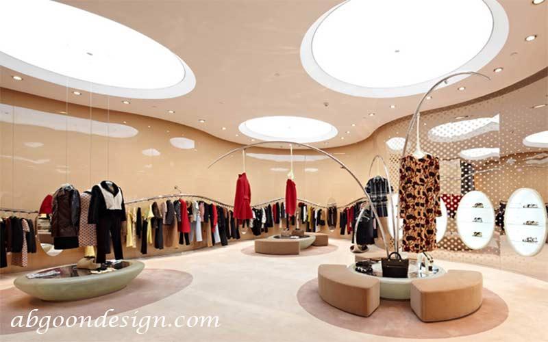 دکوراسیون مغازه لباس زنانه|آبگون دیزاین