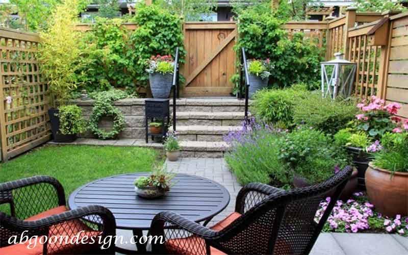 طراحی داخلی باغ کوچک|آبگون دیزاین