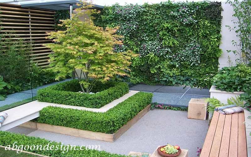 طراحی محوطه باغ کوچک