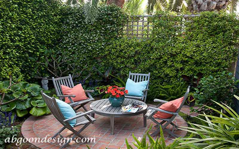 نحوه طراحی باغچه کوچک در حیاط خانه|آبگون دیزاین