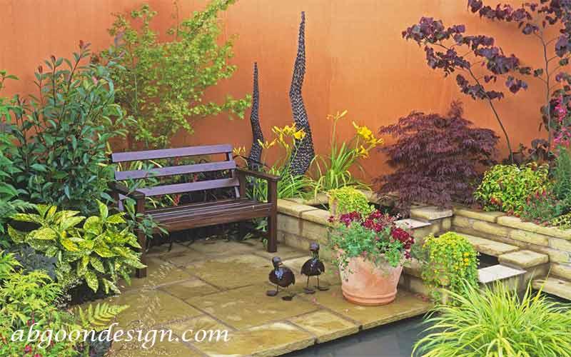 طراحی باغچه کوچک در حیاط خانه|آبگون دیزاین
