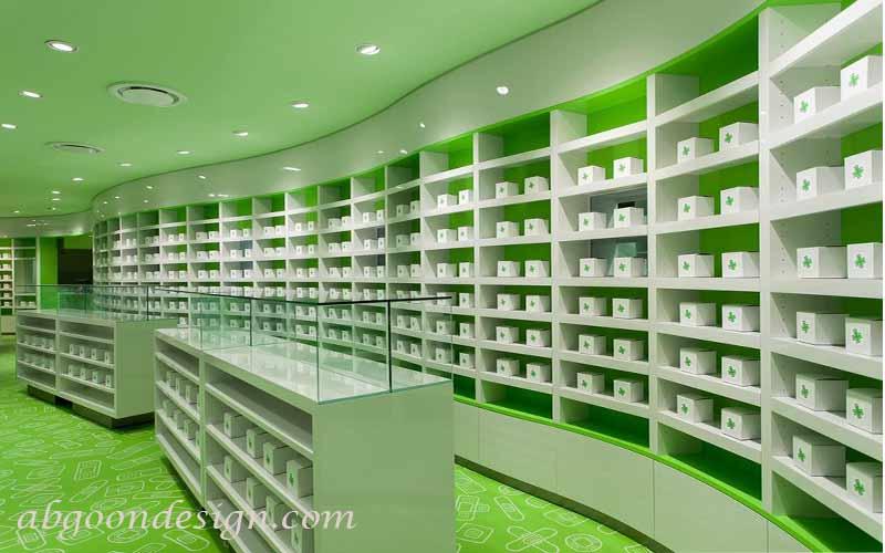 دکوراسیون داخلی داروخانه|آبگون دیزاین