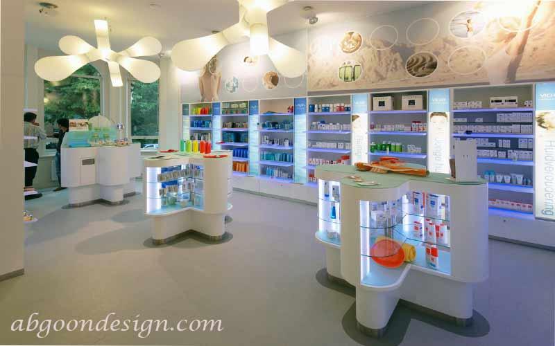 طراحی داخلی داروخانه|آبگون دیزاین