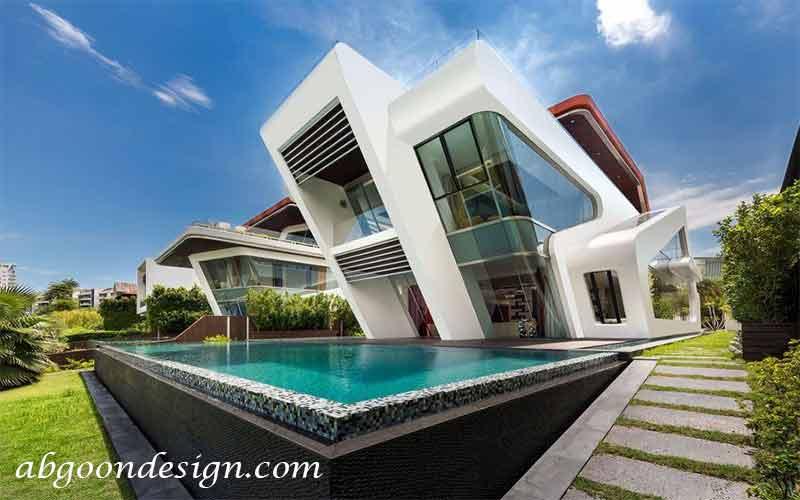 طراحی ویلا با استخر|آبگون دیزاین