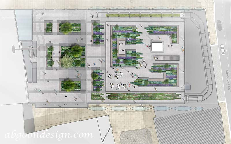 طراحی پلان باغ بام
