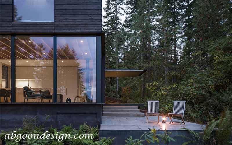 طراحی ویلا جنگلی   آبگون دیزاین