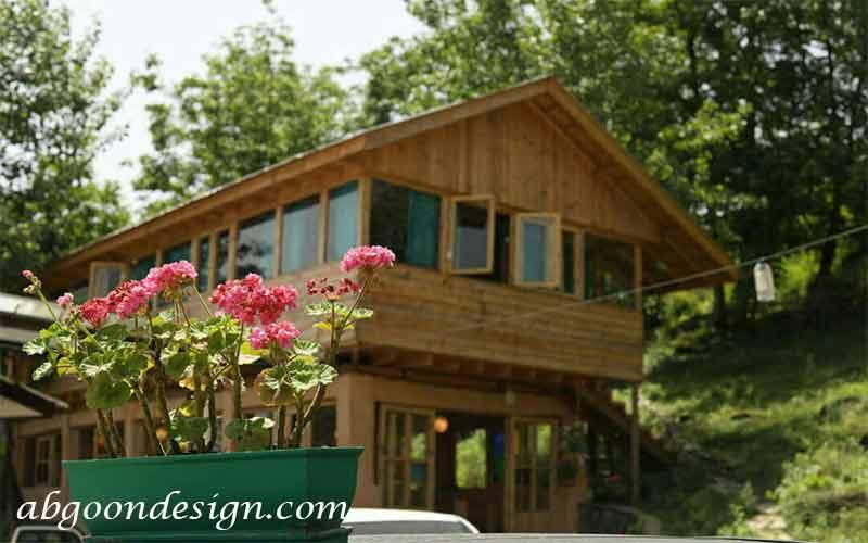 طراحی ویلا جنگلی - آبگون دیزاین