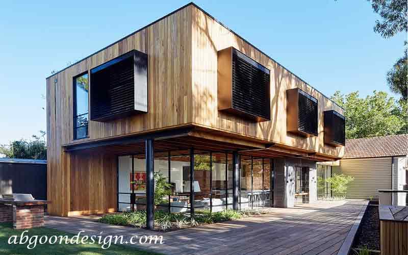 ایده های طراحی و ساخت ویلا چوبی| آبگون دیزاین