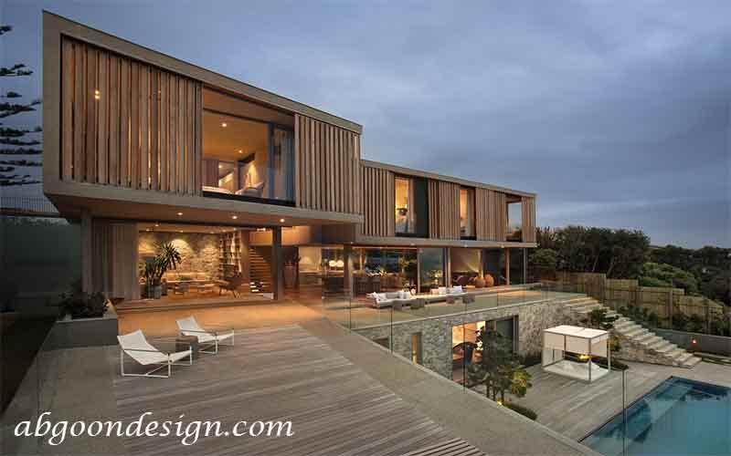 طراحی ویلا چوبی| آبگون دیزاین