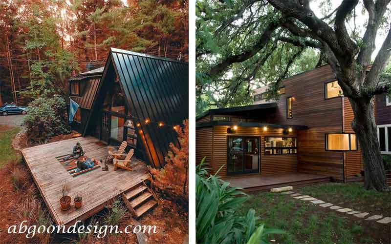 طراحی و ساخت ویلا چوبی