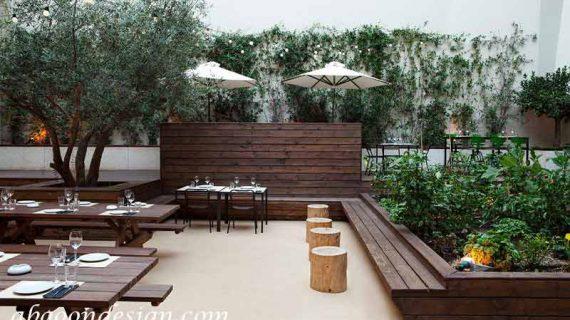 طراحی باغ رستوران