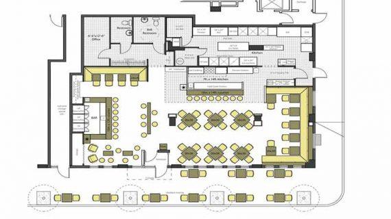 پلان طراحی رستوران