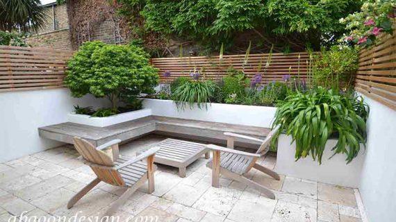 طراحی دیوار حیاط ویلا
