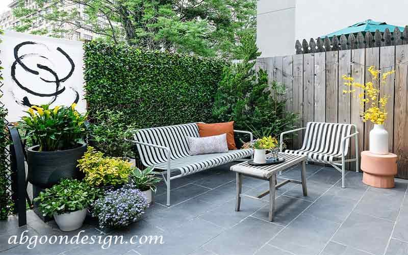 طراحی دیوار حیاط باغ |آبگون دیزاین