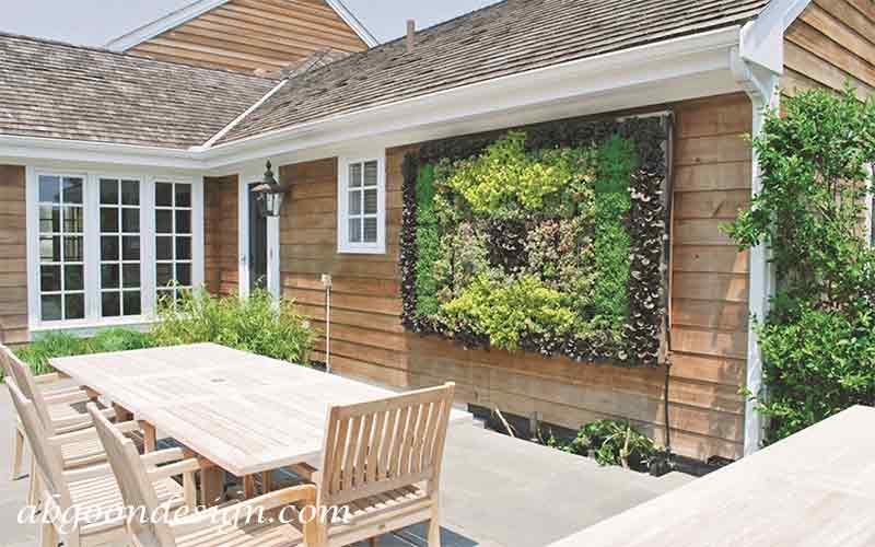 طراحی دیوار حیاط ویلا-دیوارسبز |آبگون دیزاین