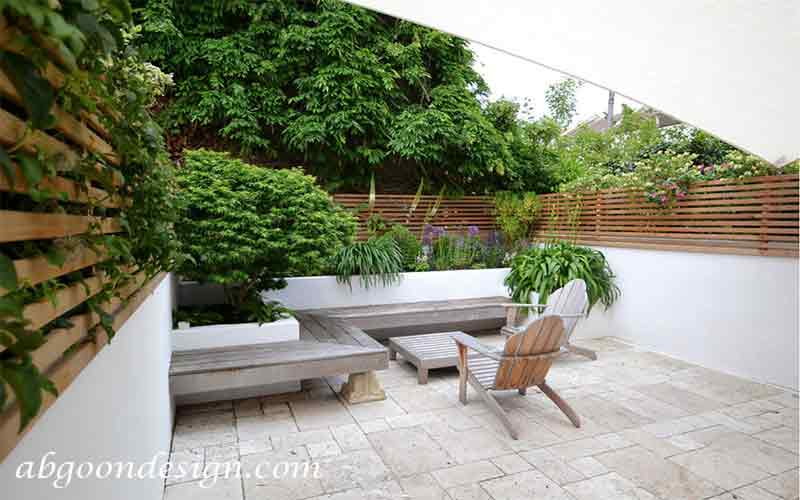 طراحی دیوار حیاط باغ و ویلا |آبگون دیزاین