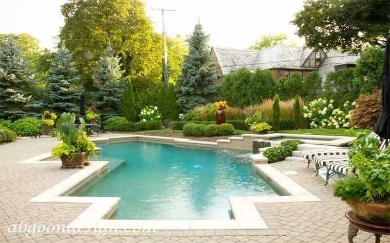 نحوه طراحی استخر باغ