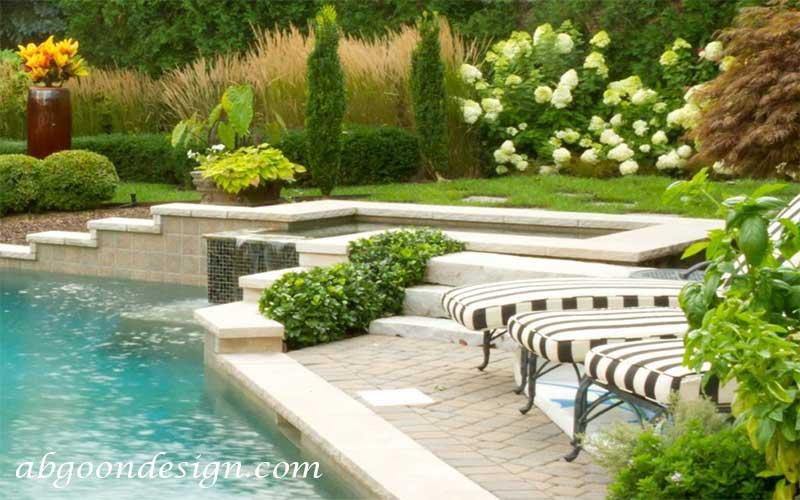 نحوه طراحی استخر باغ|آبگون دیزاین