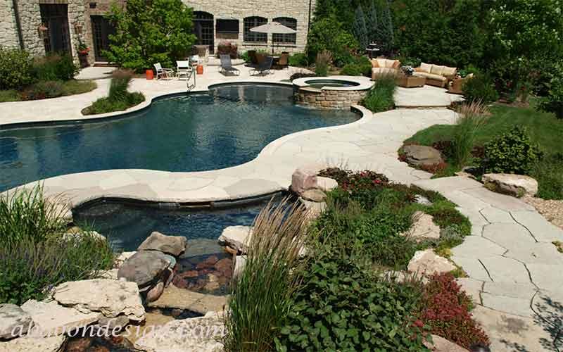 طراحی استخر باغ