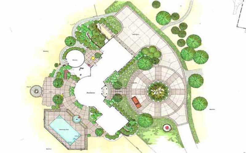 نقشه لند اسکیپ|آبگون دیزاین