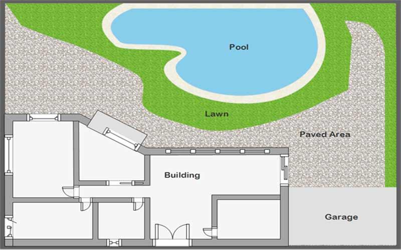 نمونه نقشه لند اسکیپ|آبگون دیزاین