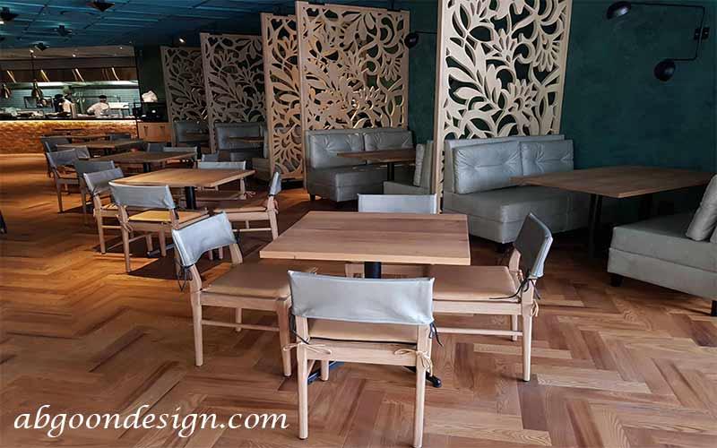 آموزش طراحی داخلی رستوران چوبی | آبگون دیزاین