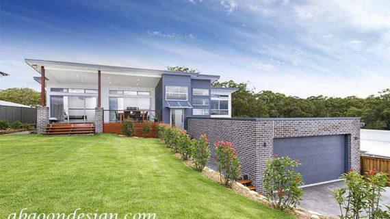 طراحی خانه ویلایی در زمین شیب دار