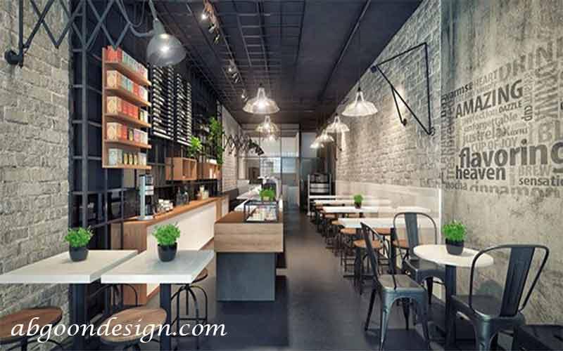 طراحی کافه رستوران مدرن| طراحی آبگون دیزاینH