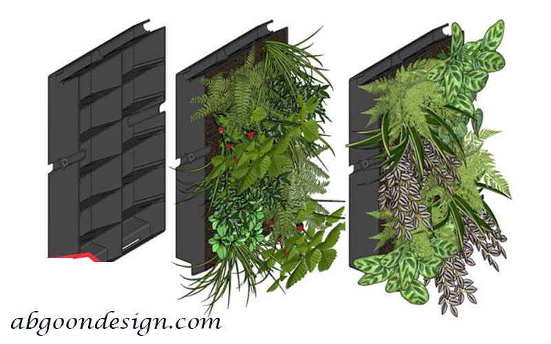 اجزای زیرسازی دیوار سبز | آبگون دیزاین