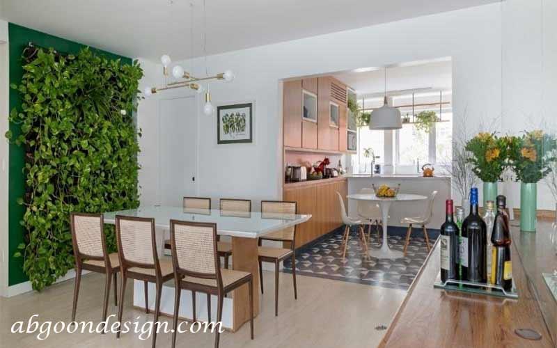 دیوار سبز در خانه   آبگون دیزاین