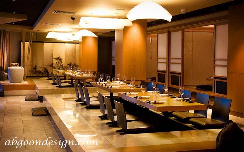 طراحی داخلی رستوران سنتی ژاپنی|آبگون دیزاین