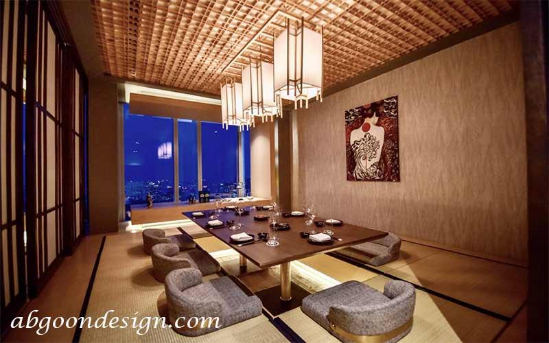 طراحی داخلی رستوران سنتی ژاپنی|abgoondesign