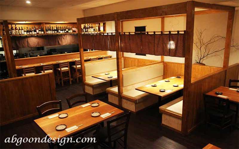 طراحی داخلی رستوران سنتی ژاپنی