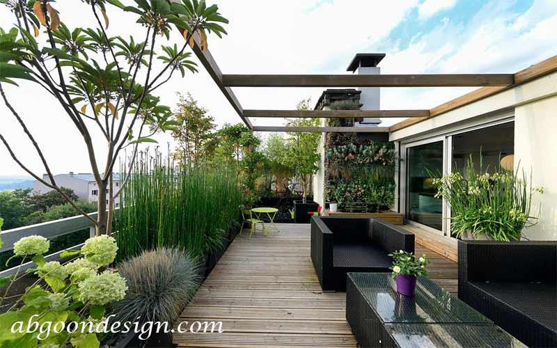 طراحی و دیزاین روف گاردن|آبگون دیزاین