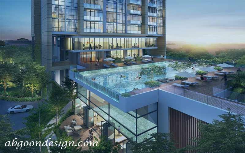طراحی استخر در آپارتمان | آبگون دیزاین