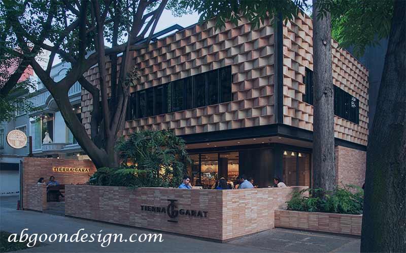 طراحی نمای رستوران سنتی | آبگون دیزاین
