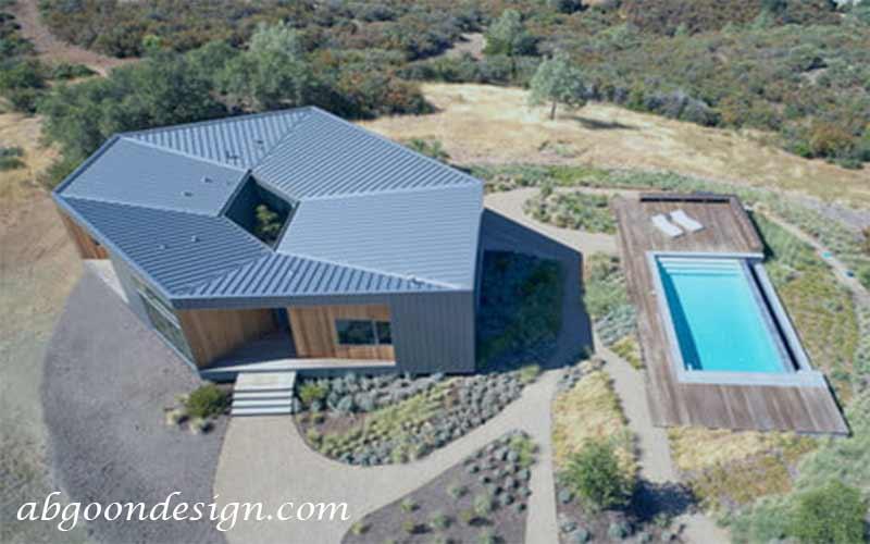 طراحی و ساخت ویلا شش ضلعی| abgoondesign