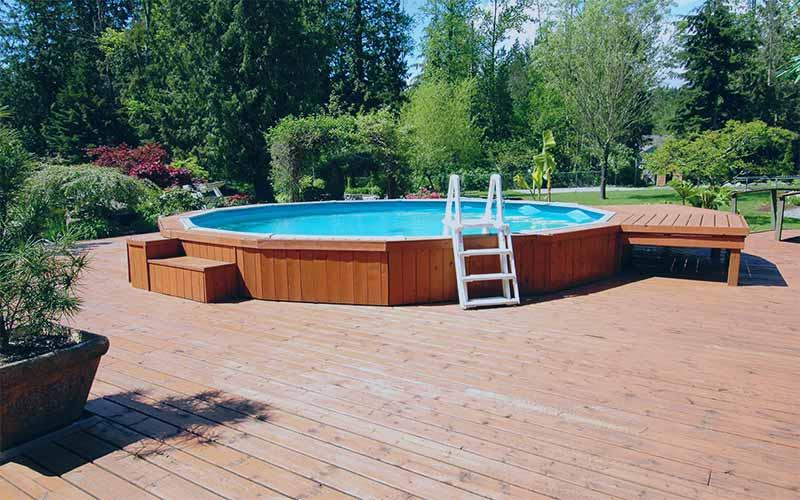 طراحی و ساخت استخر چوبی | آبگون دیزاین