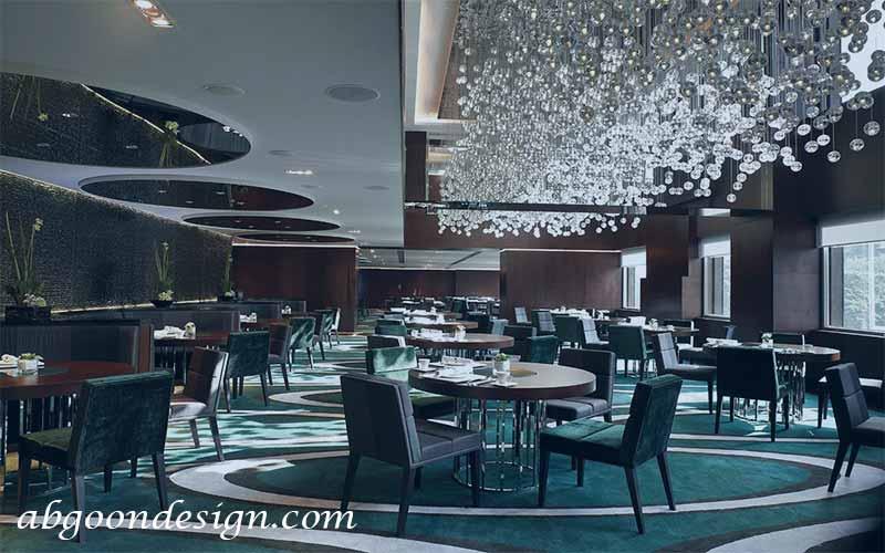 طراحی داخلی رستوران لوکس
