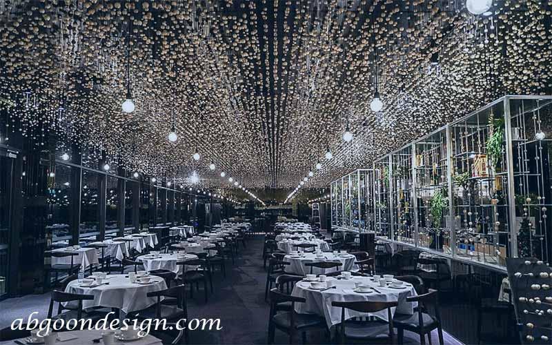 طراحی دکوراسیون داخلی رستوران لوکس | آبگون دیزاین