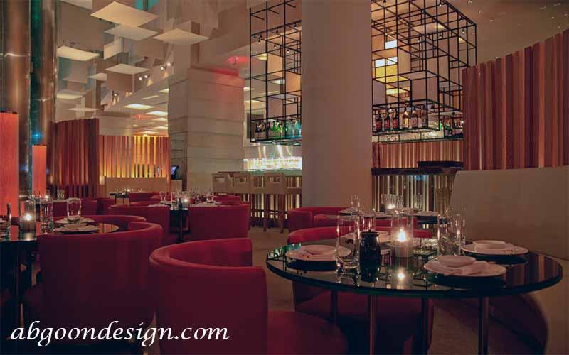 طراحی دکوراسیون داخلی رستوران های لوکس | آبگون دیزاین