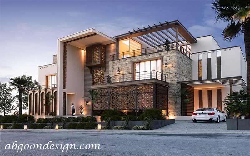 طراحی ویلا مدرن دوبلکس | آبگون دیزاین