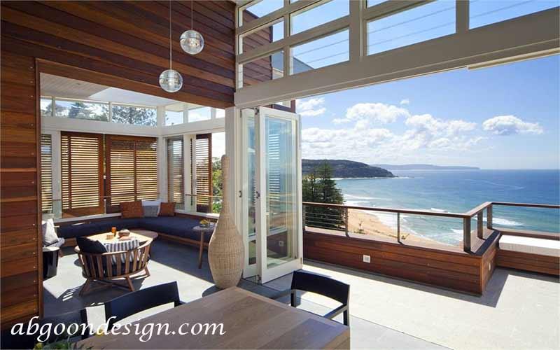 طراحی ویلا کنار ساحل - | آبگون دیزاین