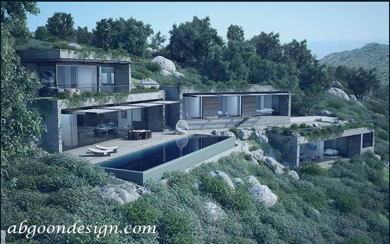 طراحی و ساخت ویلا در کوهستان | آگون دیزاین