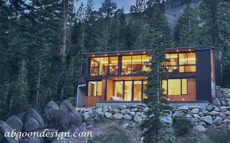 طراحی ویلا ی کوهستانی | آگون دیزاین