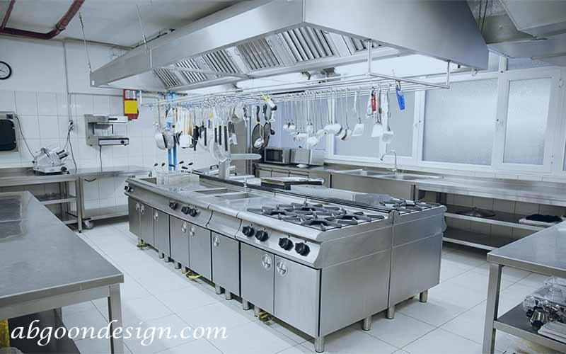 طراحی داخلی آشپزخانه رستوران | آبگون دیزاین