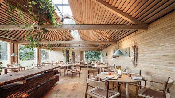 طراحی معماری باغ رستوران سنتی
