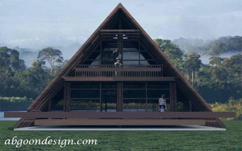 طراحی ویلا مثلثی | آبگون دیزاین