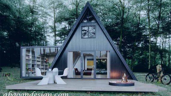 طراحی ویلا مثلثی