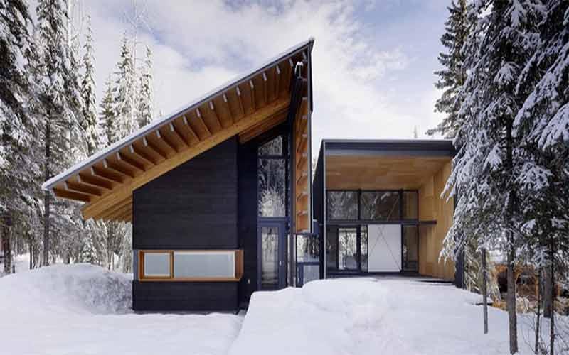 طراحی ویلا مدرن کوهستانی